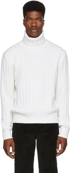 5a5aaccb88b9d1 AMI Alexandre Mattiussi - White Wool Turtleneck