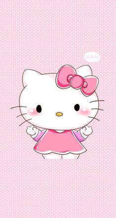 "Hello Kitty Iron On Applique Patch Hello Kitty w// Bear Puppet 3/"" x 2.5/"" *New"