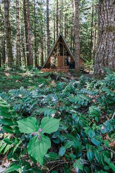 A-Frame cabin in gorgeous woodsy setting! #Vacation #Rental A Frame Cabin, A Frame House, Little Cabin, Log Homes, Tiny Homes, Dream Homes, Cabins And Cottages, Cabins In The Woods, Architecture Details
