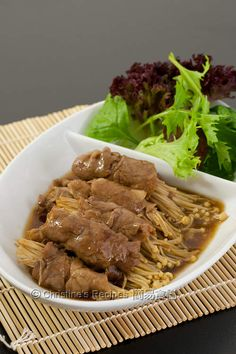Japanese Enoki Beef Rolls  from Christine�s Recipes