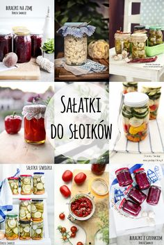 Sałatki na zimę do słoików Soft Classic, Pickles, Salads, Lunch Box, Food And Drink, Veggies, Jar, Healthy Recipes, Meals