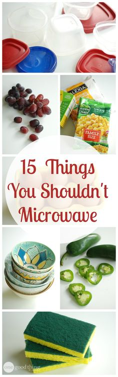"We all know that putting metal in the microwave is a big NO-NO...but how about hot peppers and raisins? Even some ""Microwave Safe"" dishes aren't necessarily so!  Check out today's post for more microwave ""DON'TS"" that might surprise you!"