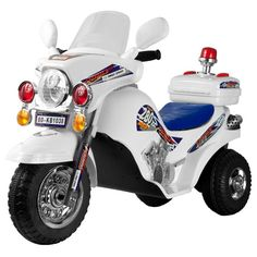 #Lil' Rider White Lightning Battery - Operated Police Cruiser... let your child cruise the neighborhood in style!