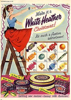 1950s Christmas candy ad