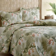 Tommy Bahama Tropical Orchid Quilt Set #bedding