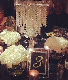 diy crystal chandelier centerpiece | Weddingbee Photo Gallery