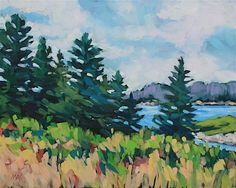 """Daily+Paintworks+-+""""Pine+View""""+-+Original+Fine+Art+for+Sale+-+©+Mary+Anne+Cary"""