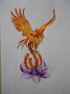 Cage Tattoos, Body Art Tattoos, Sleeve Tattoos, Ink Tattoos, Tatoos, Phoenix Bird Tattoos, Phoenix Tattoo Design, Rising Phoenix Tattoo, Lotus Tattoo Meaning