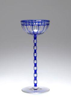 Otto Prutscher (1880-1949), Adolf Meyr's Neffe, Wineglass, Cut Glass, 1907.