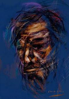 "Saatchi Art Artist Masri Hayssam; Drawing, ""Portrait-Exp.55"" #art"