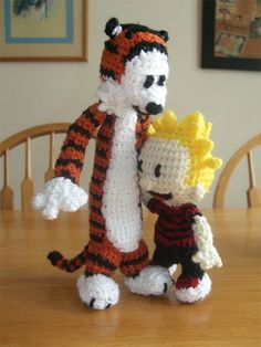 seriously adorable, calvin and hobbes.