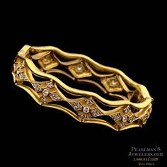 Cathy Carmendy Cathy Carmendy 20kt y.g. diamond bangle bracelet from Pearlman's Jewelers