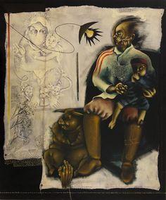 MIGUEL GONTIJO Para se Tornar Homem - 110 x 90 cm - ASMDF Ass. CID e Dat. 2003
