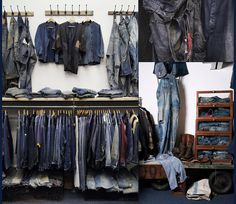 denim interiors | ... denim room, and to take a look at the ephemeral collection of vintage