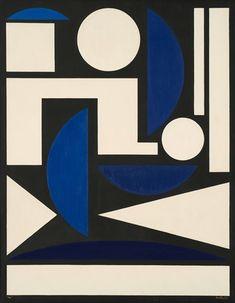 Auguste Herbin ~ Nu, oil painting, 93 x 73 cm. Victor Vasarely, Gouache, Auguste Herbin, Interior Design Principles, Deco Paint, 3d Wall Art, True Art, Global Art, Grafik Design