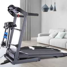 Electric Treadmill Folding Home Walking Running Machine LCD Display Weight Loss Electric Treadmill, Running Machines, Walk Run, Tool Kit, Space Saving, Small Spaces, Walking, Weight Loss, Flooring