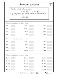 math worksheet : 1000 ideas about rounding decimals on pinterest  decimal  : Rounding And Estimating Decimals Worksheets
