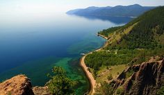 Baikal, naturaleza en el lago inmenso