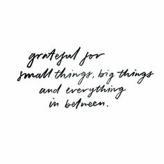 quote | grateful for small things big things and everything in between