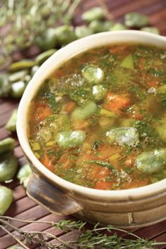 Zero points and super healthy! To Help Slim Down Fill Up on Soup Like this Simple Garden Vegetable Soup - Simple Nourished Living