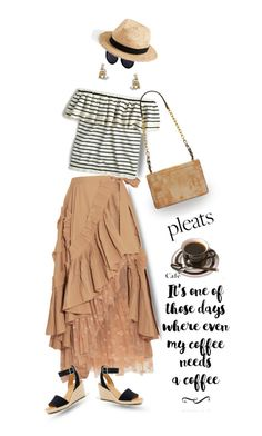 """Coffee Break"" by shoaleh-nia ❤ liked on Polyvore featuring J.Crew and Tory Burch"