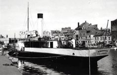 PS  EMPRESS  AT COVE ROW QUAY, WEYMOUTH.  1951   Other views available