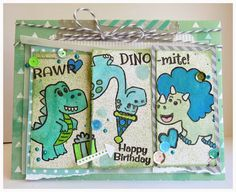 Created using Pretty Cute Stamps Dino-Mite Stamp Set