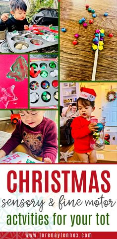 7 Christmas Sensory and Fine Motor Activities for Toddlers and Preschoolers — Lorena & Lennox Bilingual Beginnings Motor Activities, Christmas Activities, Sensory Activities, Christmas Crafts, Toddler Preschool, Toddler Activities, Craft Stick Crafts, Crafts For Kids, Shaving Cream Painting