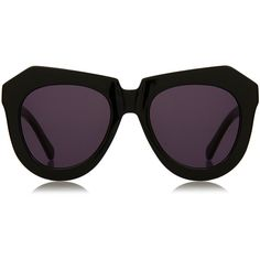 70e197645304 Karen Walker One Worship Black Angular Sunglasses (865 NOK) ❤ liked on  Polyvore featuring