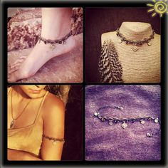 Multi magic armlet/ankle/necklace MACRAME bracelet with brass