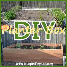 Mom On Timeout: {DIY} Garden Planter Box  Want this in my own backyard someday, super easy tutorial