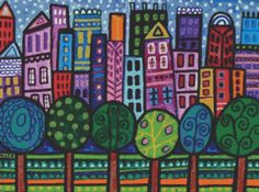 'NYC' originally created by @Heather Creswell Creswell Galler, cross stitch pattern from GeckoRouge (@KD Eustaquio O'Rourke Hill).