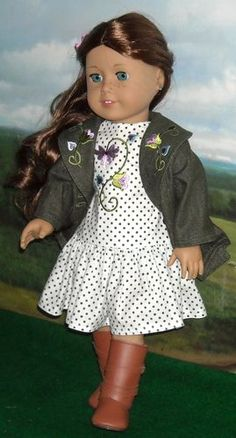 Denim Jacket and Polka Dot Dress Made by KMK Fit Popular 18 inch Dolls | eBay. Sold for $144.74 on 9/15/13