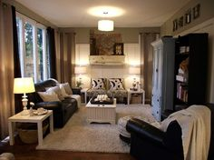 cozy family room in neutrals