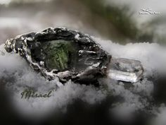 Raw moldavite and danburite pendant Mirael natural danburite Fairy Jewelry, Eternal Love, Healing Stones, Etsy Earrings, Pure Products, Gemstones, Crystals, Pendant, Diana