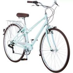 700c Schwinn Admiral Women's Hybrid Bike, Mint Green. Just needs a cute wicker basket for the front! Can I get a cup holder too?