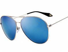 ATTCL® 2015 Klassische reflektierende Objektiv Pilotenbrille polarisierte Sonnenbrille Damen Herren VB10101 Blau