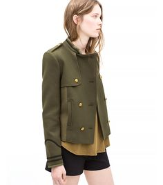 The Zara Outfit Every Girl in New York City Is Wearing via @WhoWhatWear Zara Combined Army Jacket ($100) in Dark Khaki