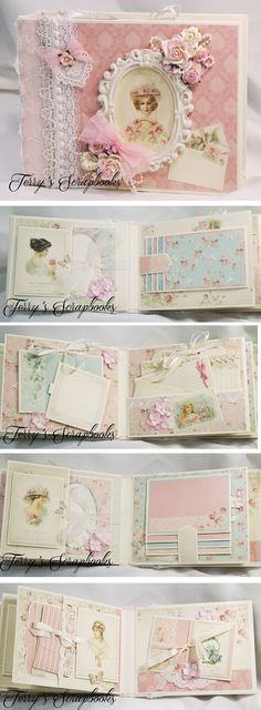 Terry's+Scrapbooks:+Pion+Designs+Paris+Flea+Market+Scrapbook+Mini+Albu...