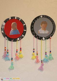 Attrape-rêves en papier Craft, Dream Catcher, Centre, Home Decor, Ose, Cycle 1, Reggio, Arts, Montessori