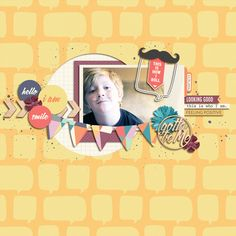 Hello Me Kit from peppermintcreative.com | page by @keela #digiscrap #layouts