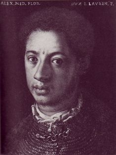 "Alessandro De Medici, also called ""Il Moro"" (""The Moor""), was the first African duke of Florence and the last member of the Medicis to rule. Il Moro was also the first one to take on his title of duke through his ancestry. Medici was born in the Italian city of Urbino in 1510. His mother was an African slave named Simonetta who had been freed. Alessandro's paternity is uncertain."
