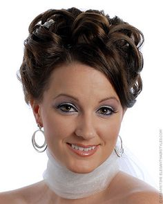 bridal hairstyle for second wedding
