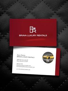 Marca e identidade visual para locadora de carros de luxo, em Miami, Florida.