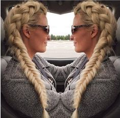 Side Dutch Braid Into Fishtail - 101 Braids That Will Save Your Bad Hair Day - Livingly Big Box Braids Hairstyles, Bob Braids, Braided Ponytail Hairstyles, Pigtail Braids, Chic Hairstyles, Creative Hairstyles, Trending Hairstyles, Twist Braids, Summer Hairstyles