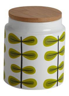 Matalan retro print ceramic storage canister