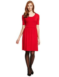 Stay up to date with the latest #fashion this #Spring with this skater dress from #M&S. #ForHer