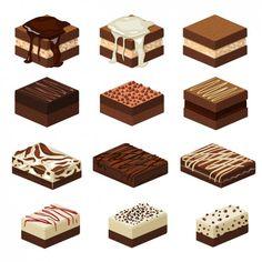 Cake drawing square 44 Ideas for 2019 Cute Food Drawings, Kawaii Drawings, Cake Drawing, Drawing Drawing, Desserts Drawing, Dessert Illustration, Cake Stock, Cute Food Art, Fudge Cake