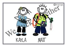 Photographer and electrician all hand drawn by Jacqui https://www.facebook.com/westicktogetherstickers?ref=ts=ts