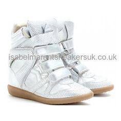 http://www.isabelmarantsneakersuk.co.uk/ High-top Silver Isabel Marant Sneakers Suede